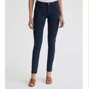 AG Prima midnight navy sateen cigarette pants